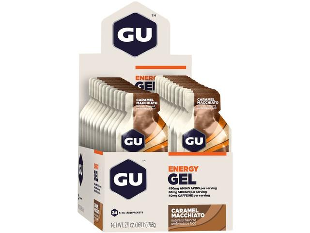 GU Energy Gel Box 24x32g Caramel Macchiato